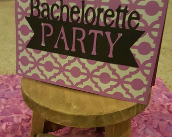 Bachelorette party invitation. Package of 8. Customizable.