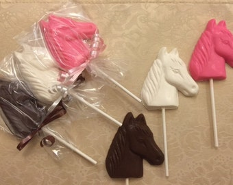 Chocolate Horse Lollipops(12 qty)-Rodeo Party-Cowboy Party_Birthday Party Favor-Western Theme Party-Horse Party-Party Favor-Kentucky Derby