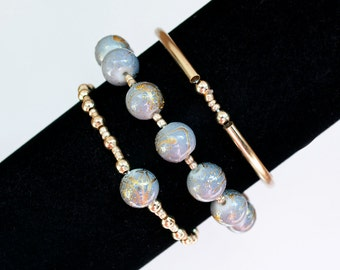Gold and Jade Bracelet Set