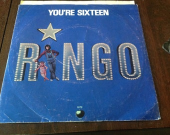 Ringo Starr- You're Sixteen 45 rpm Record w/ Picture Sleeve