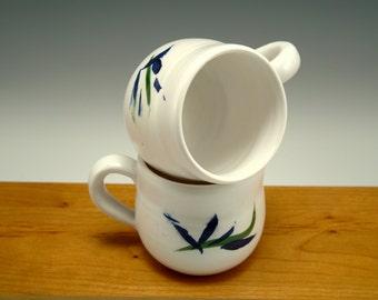 Porcelain Cups -- Set of 2