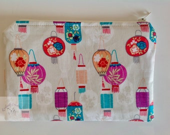 "7"" Make Up Bag  - Chinese Lanterns"