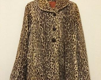 1960s Faux Leopard Grunge Jacket