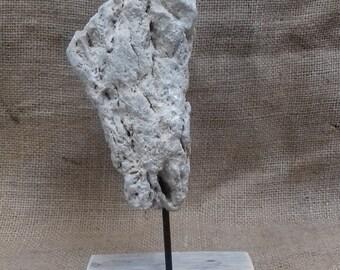 Representative Corsica stone sculpture, handmade. Craft work.