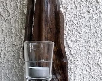 Driftwood hanging tealight