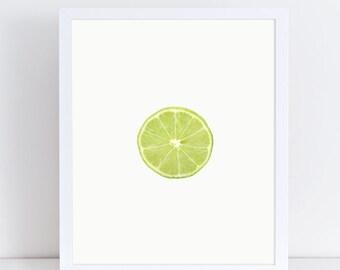 Lime Print, Lime Poster, Lemon Print, Lemon Wall Art, Lemon Kitchen Decor, Fruit and Vegetable Prints, Fruit Poster, Fruit Photography, Gift