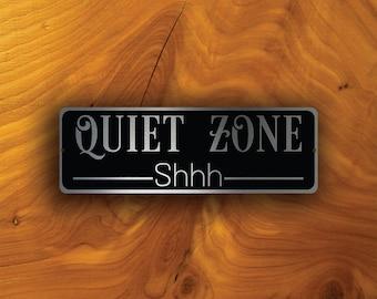 QUIET ZONE SIGN, Quiet Zone signs, Custom Door Signs, Quiet Zone Plaque, Quiet Please Signs, Quiet Zone Wall Plaque Sign, Quiet Zone