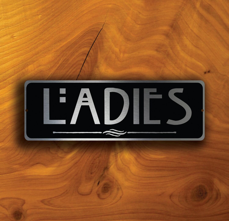 Ladies restroom sign ladies restroom signs ladies door sign for Ladies bathroom sign