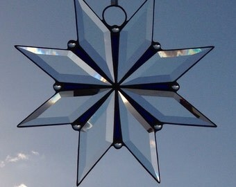 Hand made Bevelled Glass Star