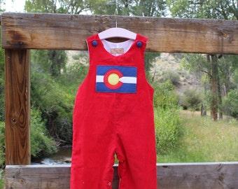 Red Corduroy Colorado Flag Longalls