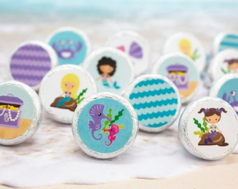 Mermaid Party Decorations | Under The Sea Party Decorations | Mermaid Party Favors | Under The Sea Party Favors | (324 Stickers)
