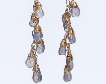 Moondrop Labradorite Earrings