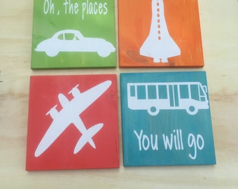 Travel nursery set of 4- PB knockoff