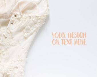 Wedding Dress on a White Background / Stock Photography / Product Mockup / High Res File
