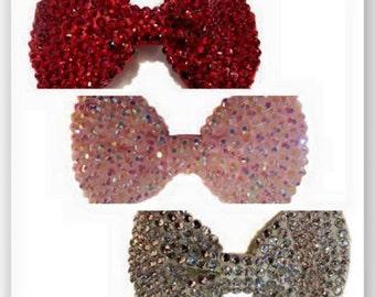 4.5 inch super bling diamante hair bow