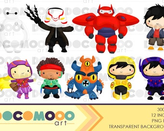 Buy 1 Get 1 !! Robot Heroes Clipart / Digital Clip Art for Commercial and Personal Use / INSTANT DOWNLOAD