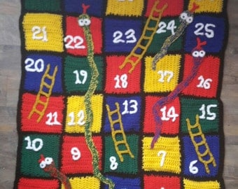 Snakes and Ladders Crochet Blanket