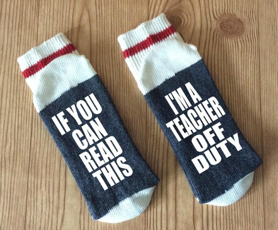 Funny teacher socks