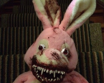 Pink Rotten Bunny horror plush