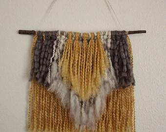 Earth Tone Yarn Wall Hanging
