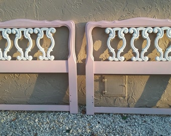 Hollywood Regency Twin headboard  French Provincial Victorian Style