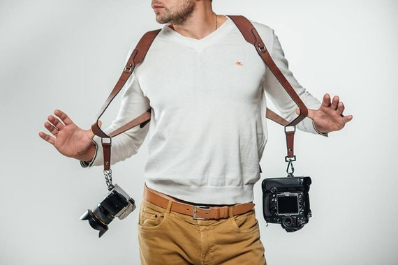 il_570xN.1041365406_ninq camera strap double shoulder camera strap dual camera strap dual camera harness at fashall.co