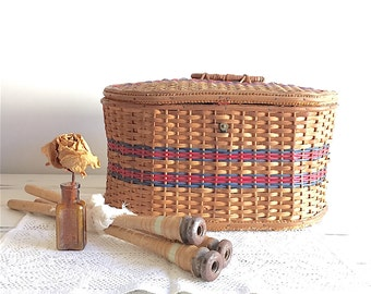 Sewing Basket, Basket, Sewing, French, Embroidery, Neddle Work