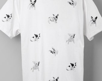 French Bulldog Pattern T-shirt