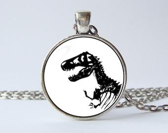 T Rex necklace Dinosaur jewelry Dinosaur necklace T Rex pendant Tyrannosaurus Rex Dinosaur gift Dinosaur jewellery Animal necklace Skeleton