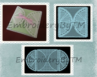 The packaging of the card of wishes of lace