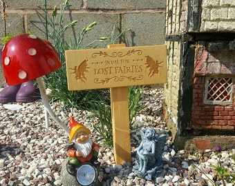 Engraved fairy garden sign