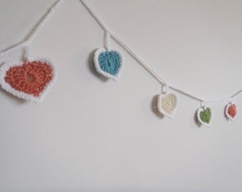 Love Heart Crochet Bunting