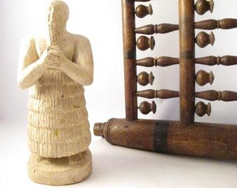 1976 Statue of King Itur-Shamagan Praying Figurine Replica by MW Dajani