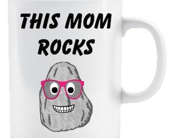 This Mom Rocks Coffee Mug 11 oz