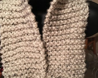 Knitted tweed neck scarf