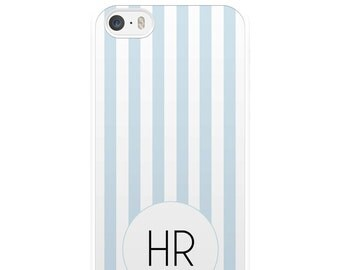 Blue and White Striped iPhone Case, Personalised iPhone Case, Custom iPhone Case, iPhone 5, iPhone 5s, iPhone 6, iPhone 6s, Gift