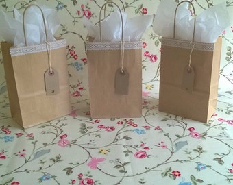 Beautiful vintage lace gift bags