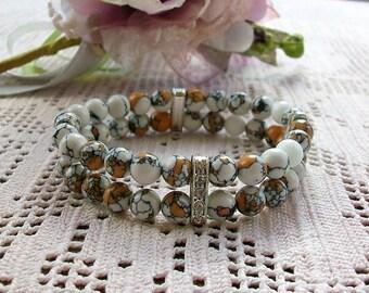Bracelet with turquoise bead of turkey, 18 cm