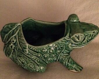 Antique McCoy Frog Planter