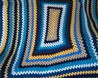 Multicolor Granny Rectangle Afghan