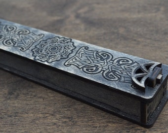 Box for pens, Box for gift, Gift boxes, Packing box, Personalized Box, Jewelry Box Wooden, Celtic pattern boldness.