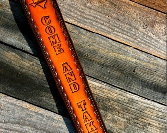 Custom Leather Rifle Sling - Personalized
