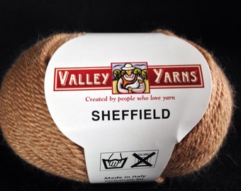 Valley Yarns Sheffield camel color