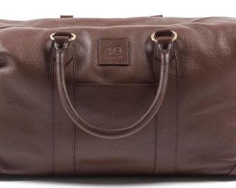 Handmade Genuine Italian Leather Duffel Bag - 40 Harrison