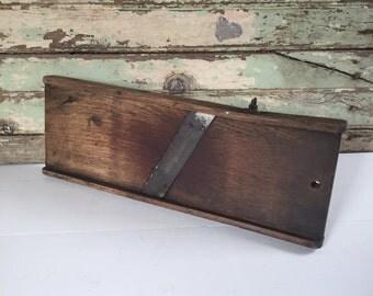 Vintage Wood Slaw Board, Kitchen Utensil, Farmhouse Decor, Primitiive, Cottage Chic