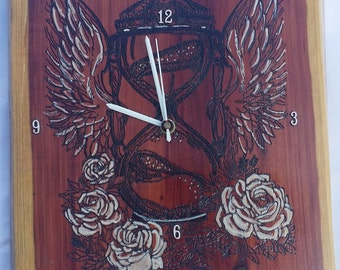 Sands of time wood clock