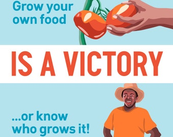 Local Food is a Victory - Sticker