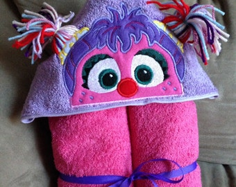 Pink Monster Hooded Towel - Abby Cadabby Inspired Towel - Pink - Magic - Kids Gifts