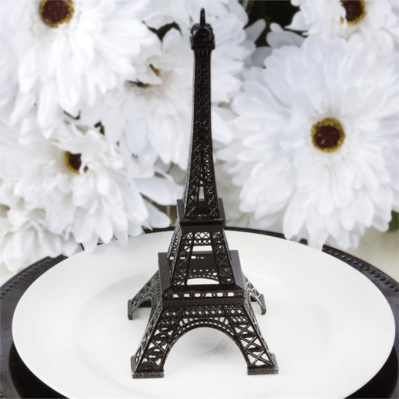 Paris Baby Shower Cake: 10 Black Metal Eiffel Tower Cake Topper Parisian