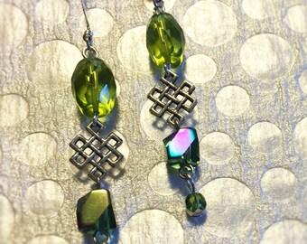 Celtic Green Earrings
